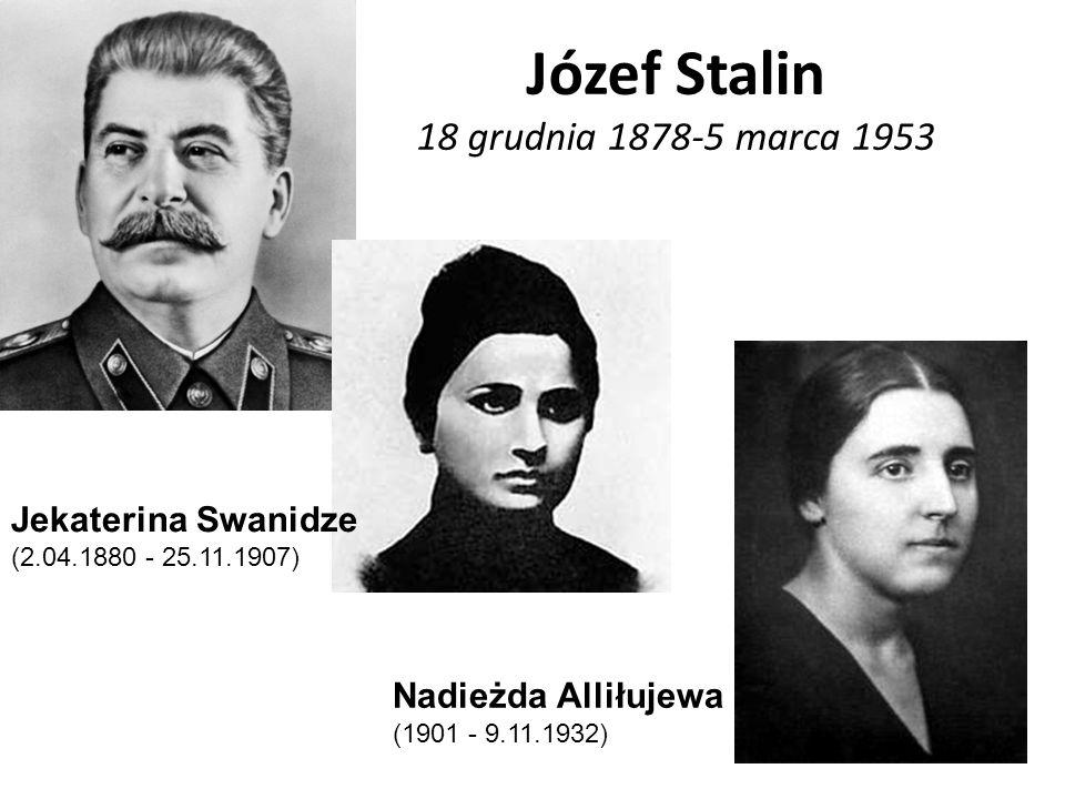 Józef Stalin 18 grudnia 1878-5 marca 1953