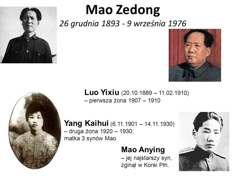 Mao Zedong 26 grudnia 1893 - 9 września 1976