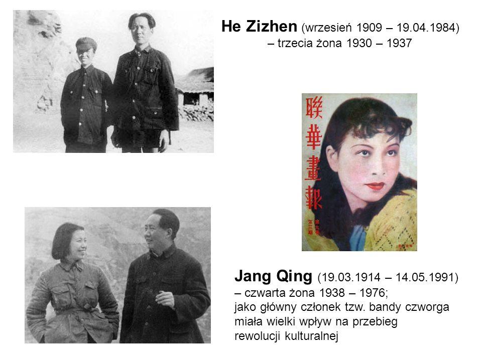 He Zizhen (wrzesień 1909 – 19.04.1984) – trzecia żona 1930 – 1937