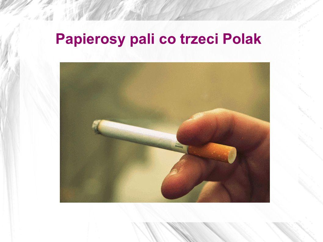 Papierosy pali co trzeci Polak