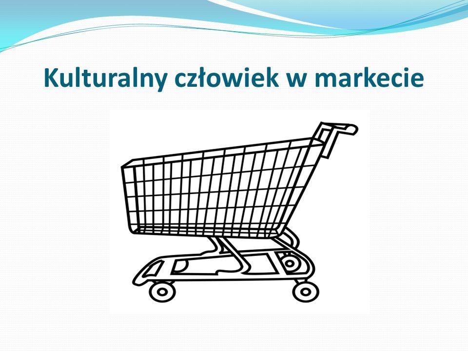 Kulturalny człowiek w markecie