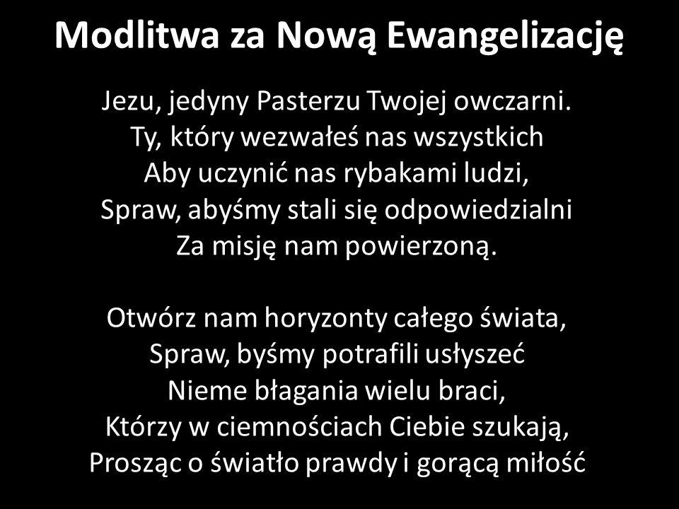 Modlitwa za Nową Ewangelizację
