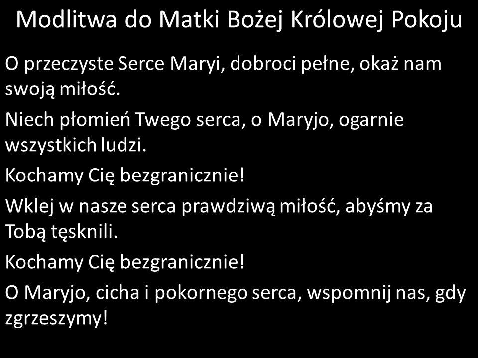 Modlitwa do Matki Bożej Królowej Pokoju