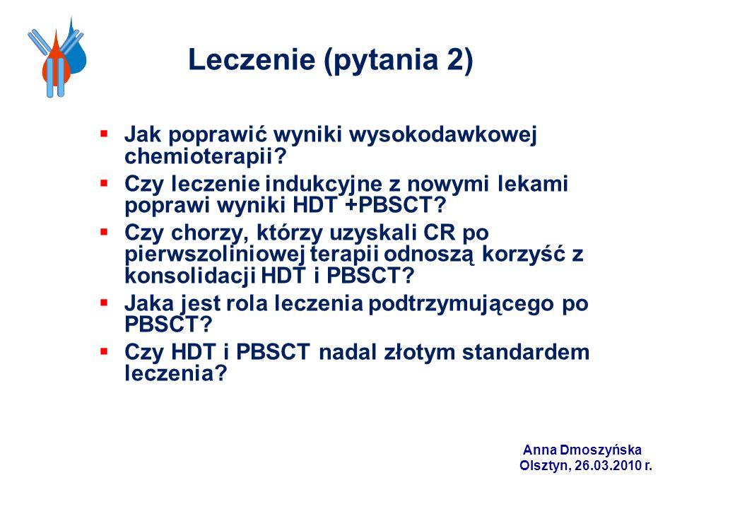 Leczenie (pytania 2) Jak poprawić wyniki wysokodawkowej chemioterapii