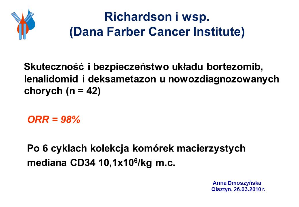 Richardson i wsp. (Dana Farber Cancer Institute)