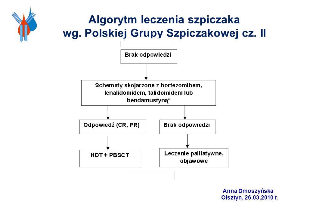 Algorytm leczenia szpiczaka wg. Polskiej Grupy Szpiczakowej cz. II