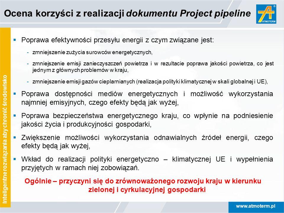 Ocena korzyści z realizacji dokumentu Project pipeline