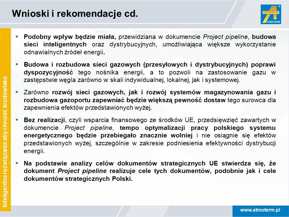 Wnioski i rekomendacje cd.