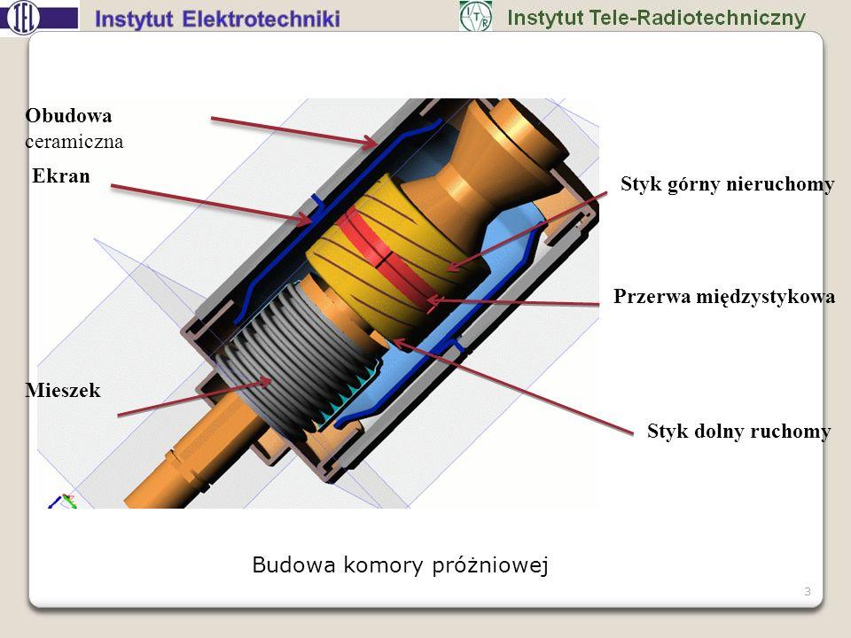 Badania styków z osiowym polem magnetycznym