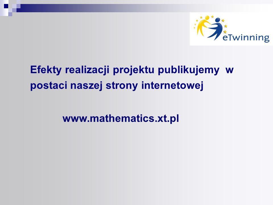 Efekty realizacji projektu publikujemy w postaci naszej strony internetowej