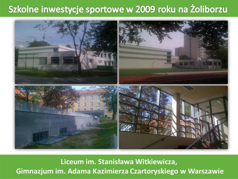 Szkolne inwestycje sportowe w 2009 roku na Żoliborzu