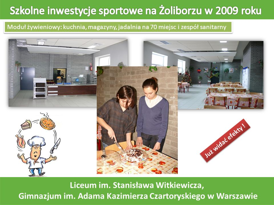 Szkolne inwestycje sportowe na Żoliborzu w 2009 roku