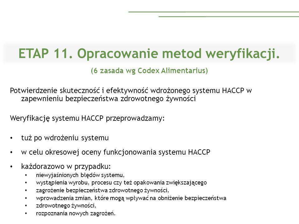 ETAP 11. Opracowanie metod weryfikacji.