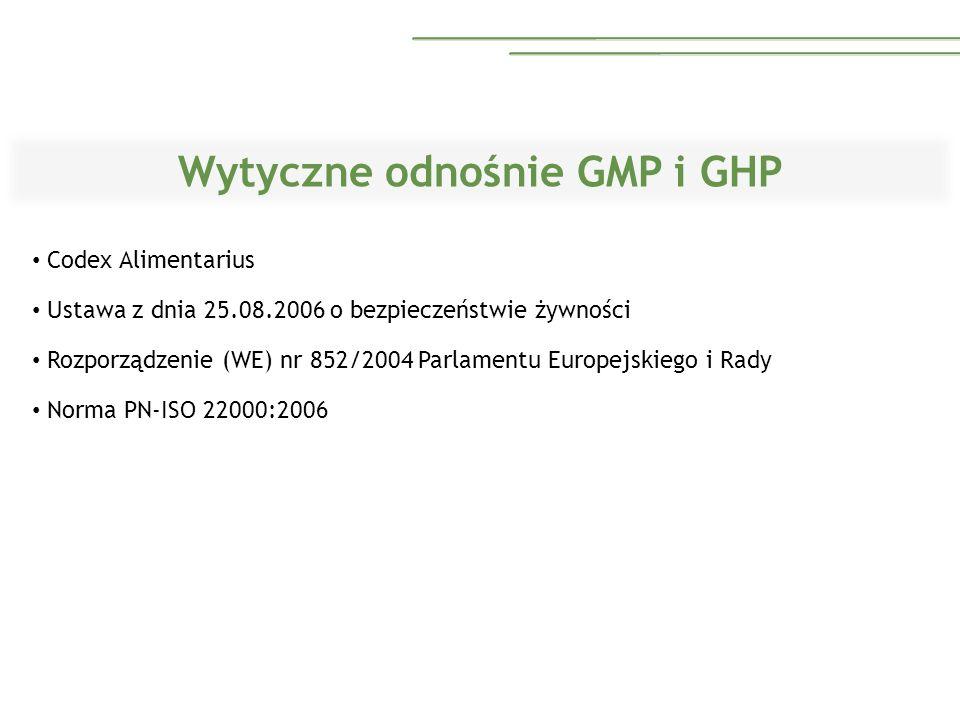 Wytyczne odnośnie GMP i GHP