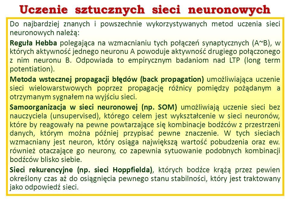 Uczenie sztucznych sieci neuronowych