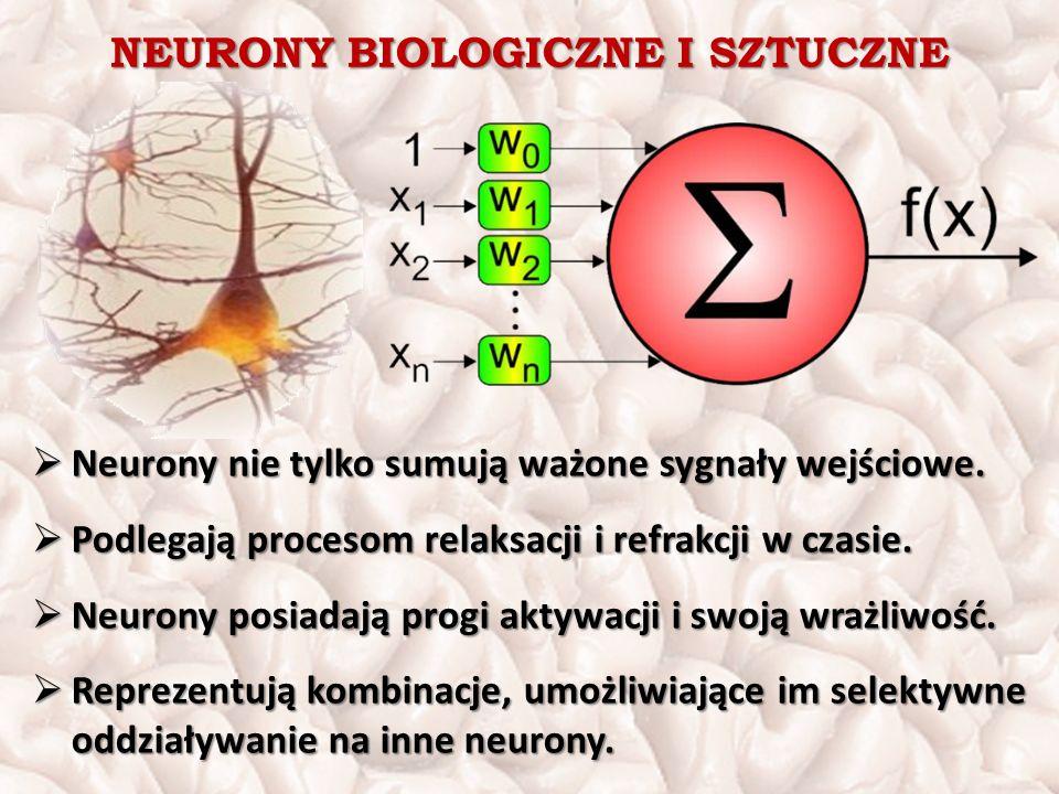 NEURONY BIOLOGICZNE I SZTUCZNE