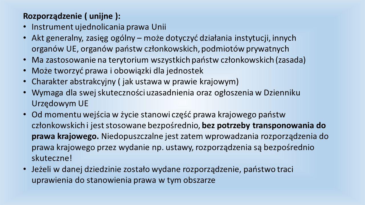Rozporządzenie ( unijne ):