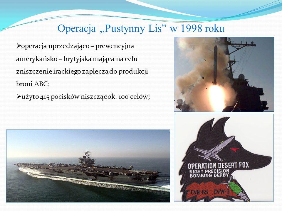 """Operacja """"Pustynny Lis w 1998 roku"""