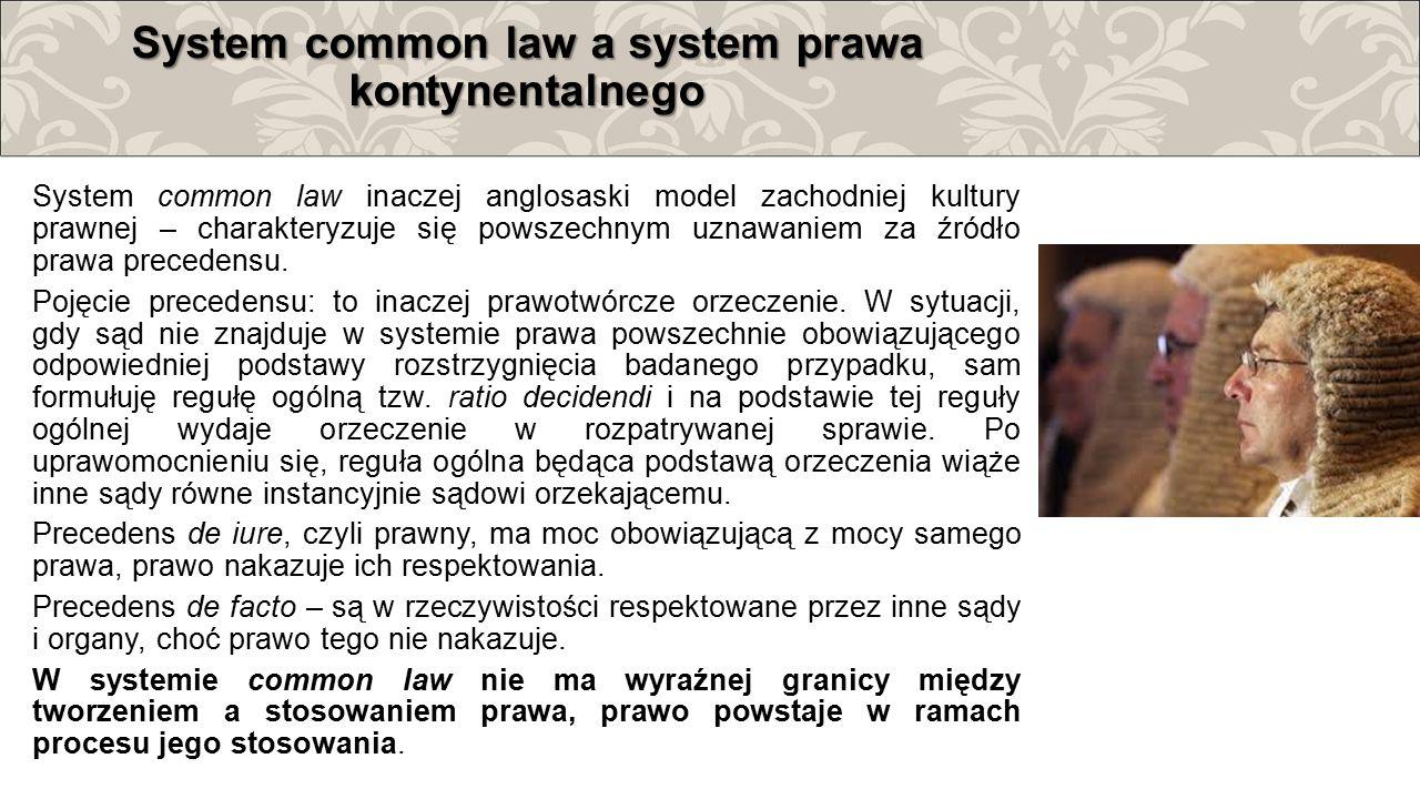 System common law a system prawa kontynentalnego