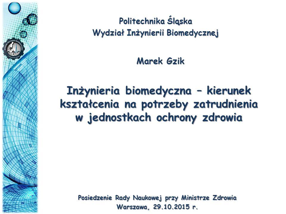 Politechnika Śląska Wydział Inżynierii Biomedycznej. Marek Gzik.