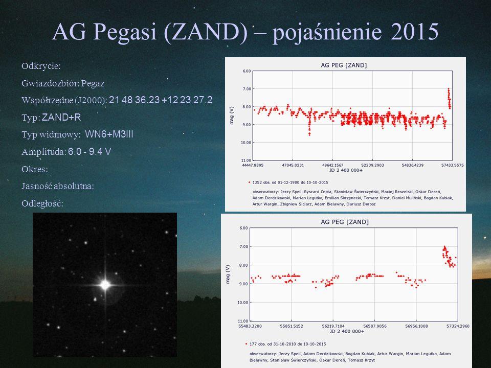 AG Pegasi (ZAND) – pojaśnienie 2015