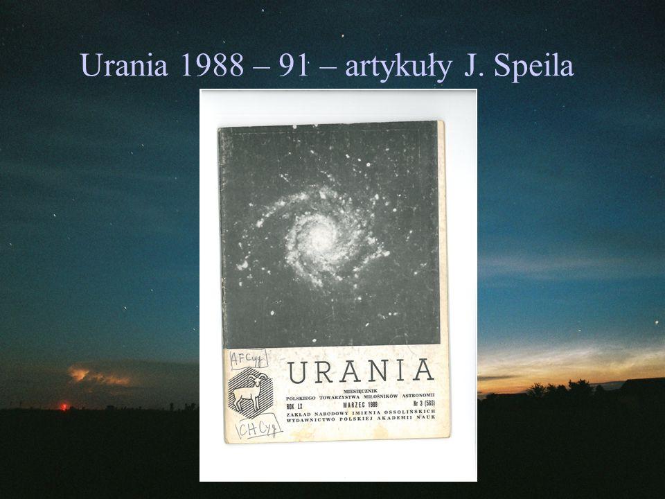 Urania 1988 – 91 – artykuły J. Speila