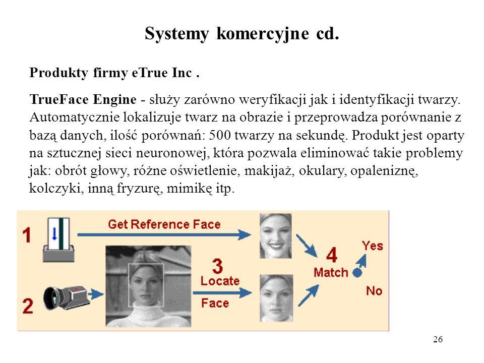 Systemy komercyjne cd. Produkty firmy eTrue Inc .