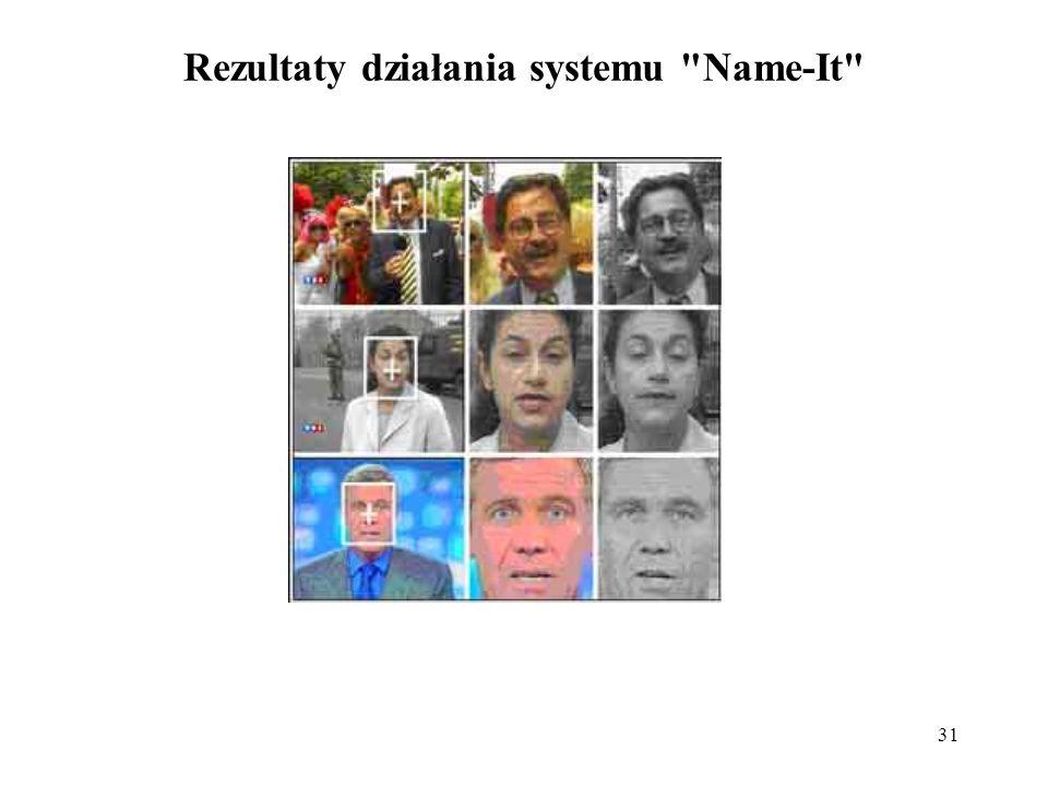 Rezultaty działania systemu Name-It