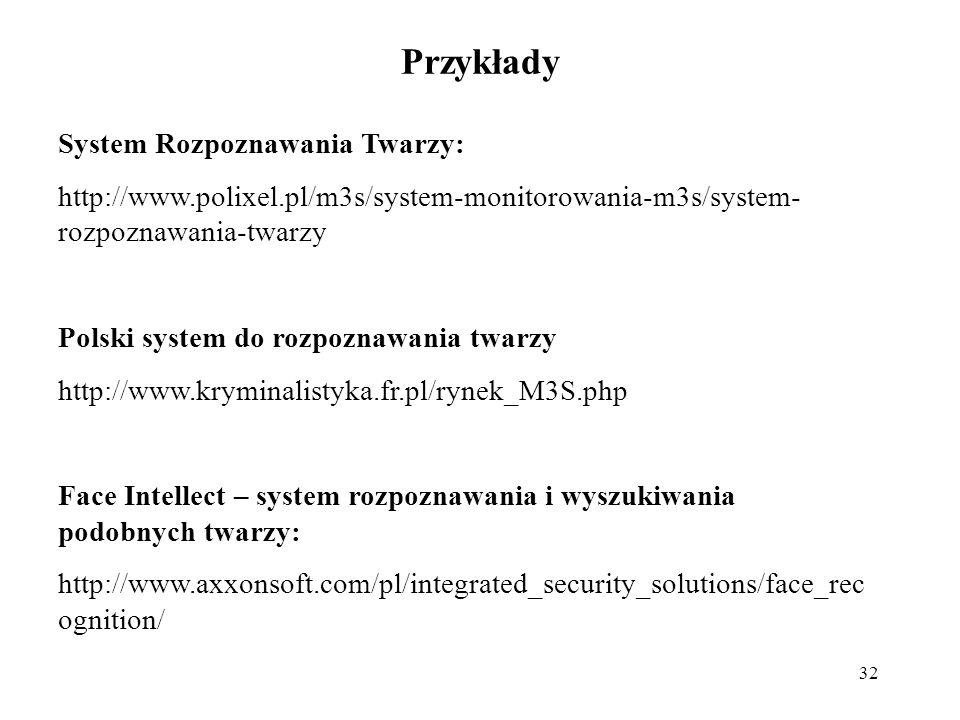 Przykłady System Rozpoznawania Twarzy: