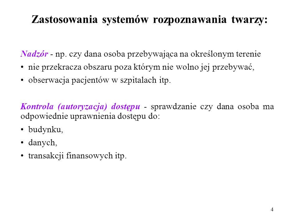 Zastosowania systemów rozpoznawania twarzy:
