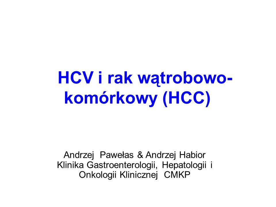 HCV i rak wątrobowo-komórkowy (HCC)