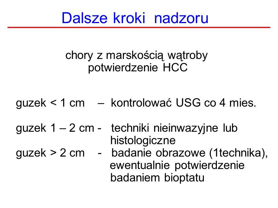 Dalsze kroki nadzoru chory z marskością wątroby potwierdzenie HCC