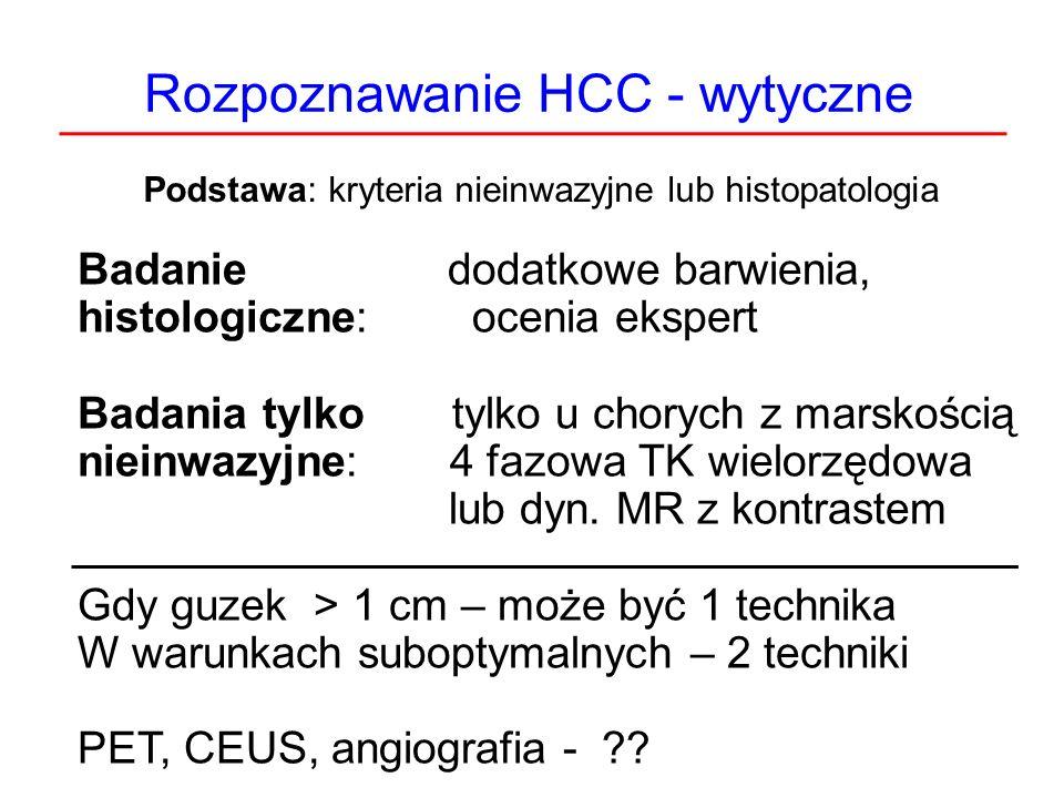 Rozpoznawanie HCC - wytyczne