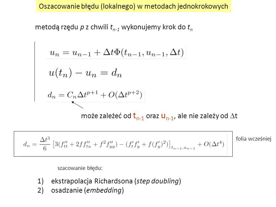 Oszacowanie błędu (lokalnego) w metodach jednokrokowych