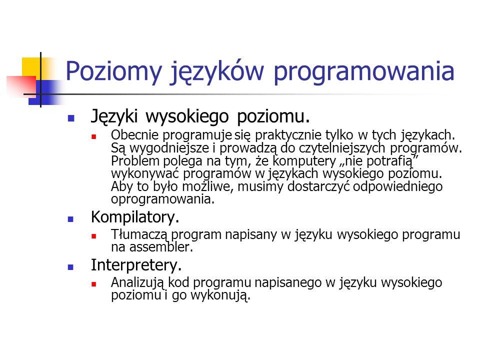 Poziomy języków programowania
