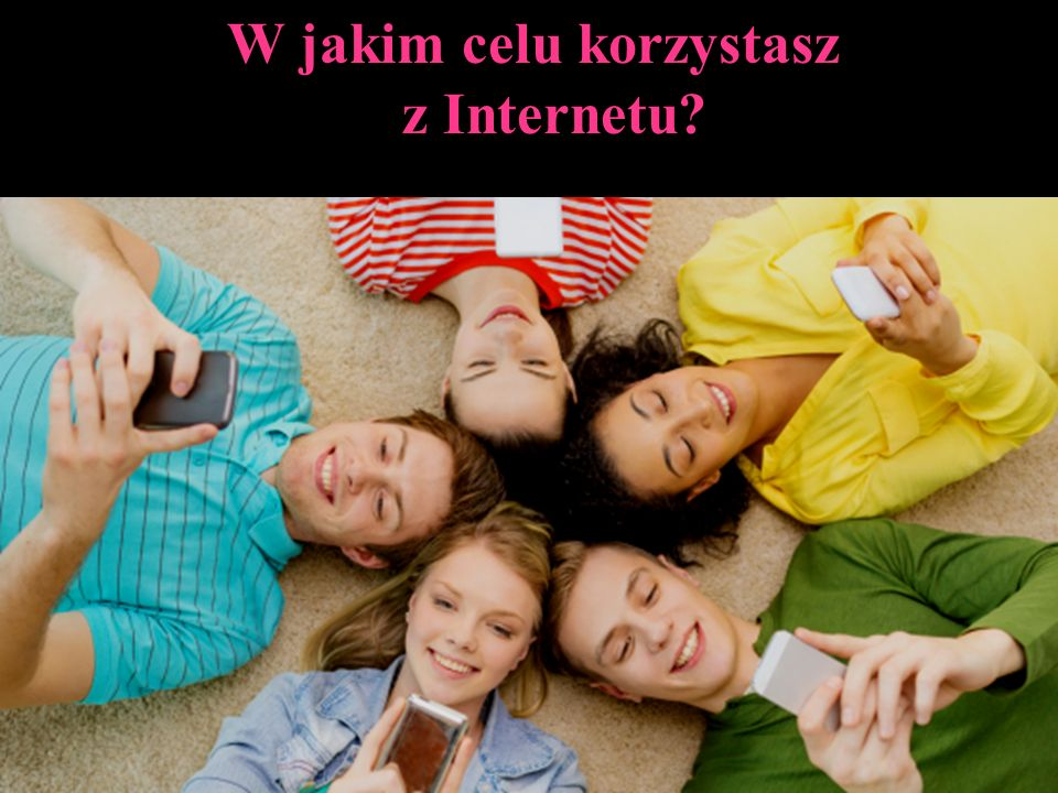 W jakim celu korzystasz z Internetu