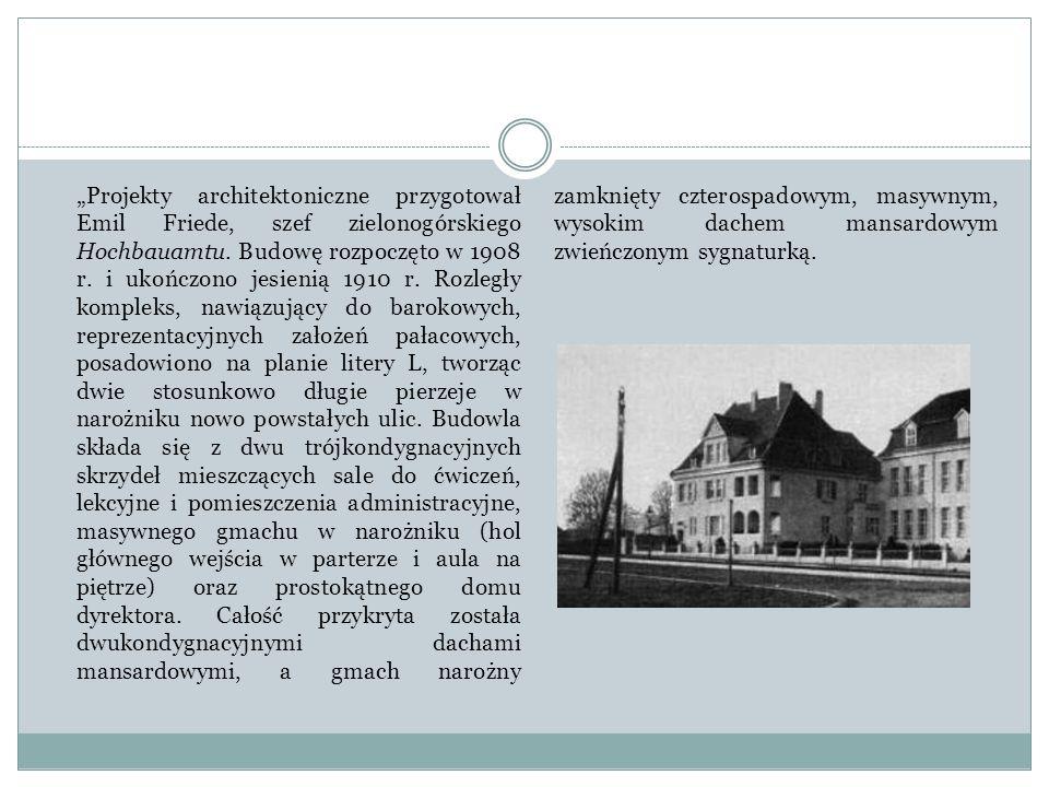 """""""Projekty architektoniczne przygotował Emil Friede, szef zielonogórskiego Hochbauamtu."""