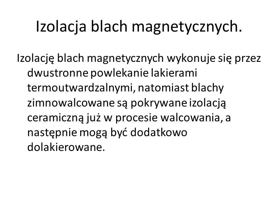 Izolacja blach magnetycznych.