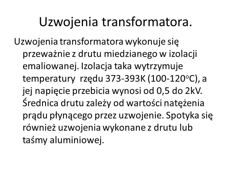 Uzwojenia transformatora.