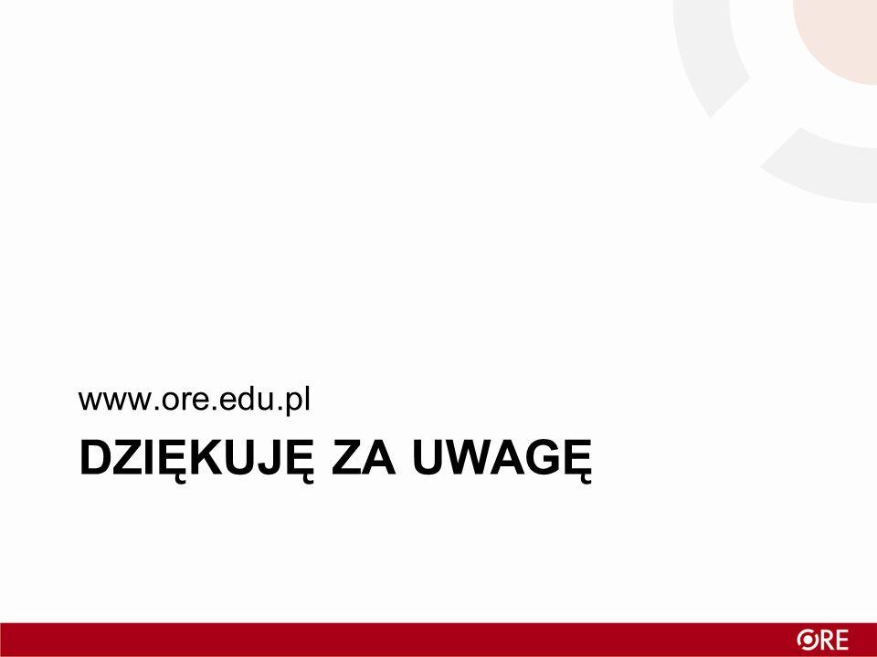 www.ore.edu.pl Dziękuję za uwagę
