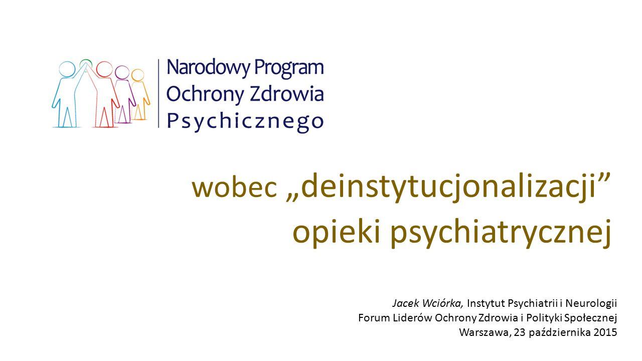 """wobec """"deinstytucjonalizacji opieki psychiatrycznej"""