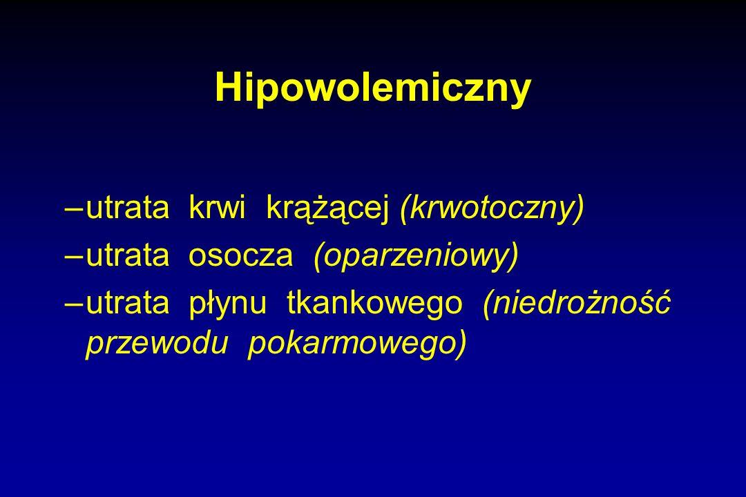 Hipowolemiczny utrata krwi krążącej (krwotoczny)