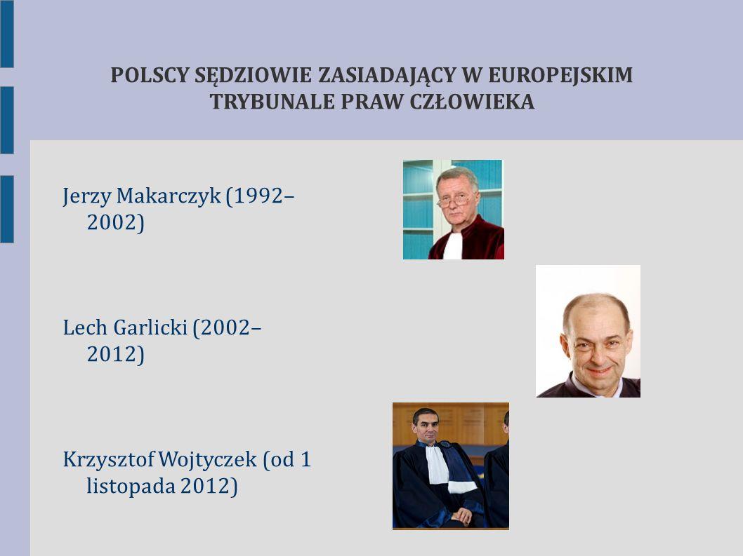 POLSCY SĘDZIOWIE ZASIADAJĄCY W EUROPEJSKIM TRYBUNALE PRAW CZŁOWIEKA