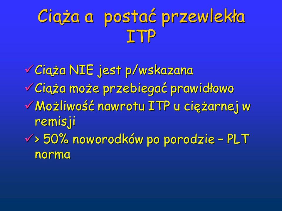 Ciąża a postać przewlekła ITP