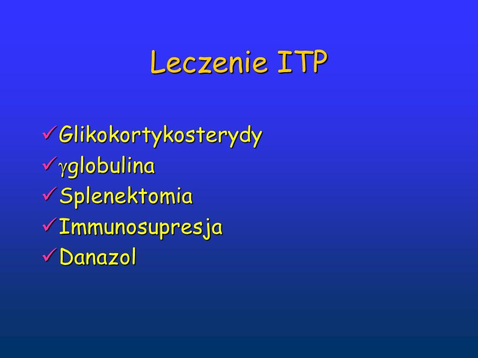 Leczenie ITP Glikokortykosterydy globulina Splenektomia