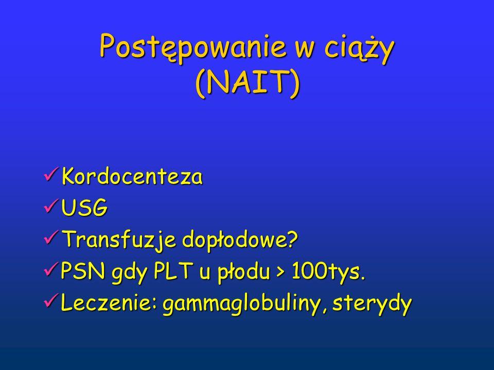 Postępowanie w ciąży (NAIT)