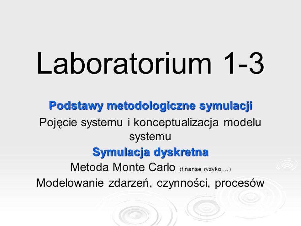 Laboratorium 1-3 Podstawy metodologiczne symulacji