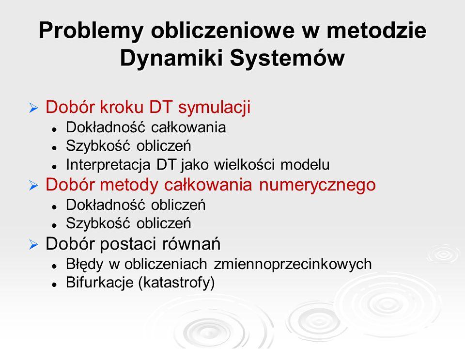 Problemy obliczeniowe w metodzie Dynamiki Systemów