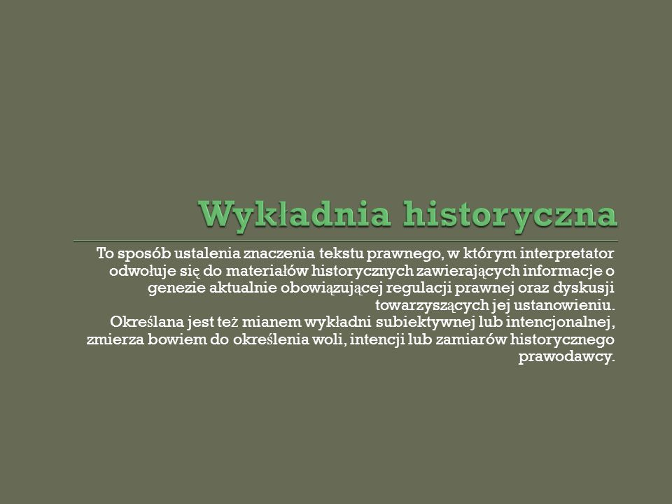 Wykładnia historyczna