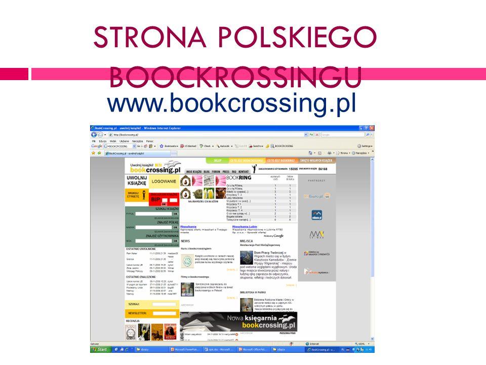 STRONA POLSKIEGO BOOCKROSSINGU